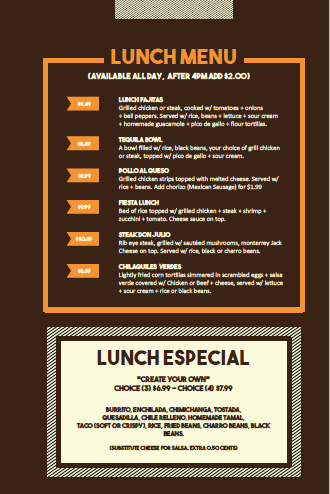 Lunch Menu 1